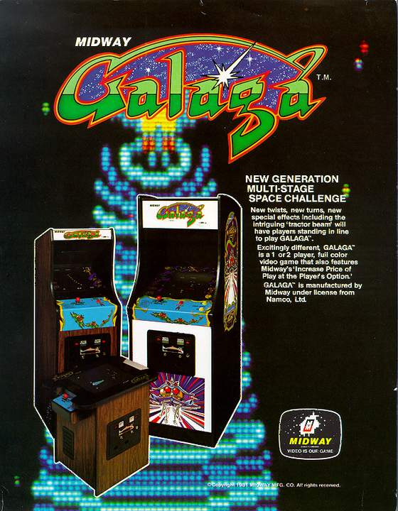 Galaga Flyer: 1 Front