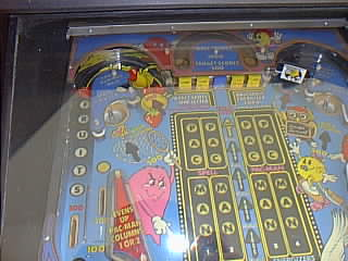 Baby Pac-Man pinball playfield - left