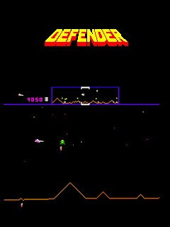 A composite defender screen (horizontal) and the logo.