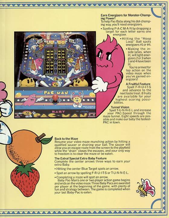 Baby Pac-man flyer: 3 Middle right