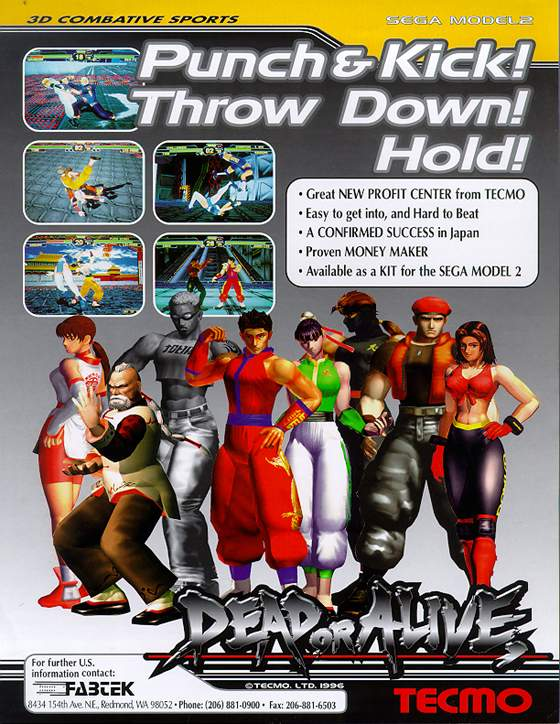 Dead or Alive Flyer: 1 Front