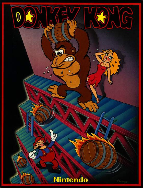 Donkey Kong flyer: 1 Front