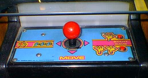 Ms. pac-Man cocktail conrtol close-up 2 (with start controls)