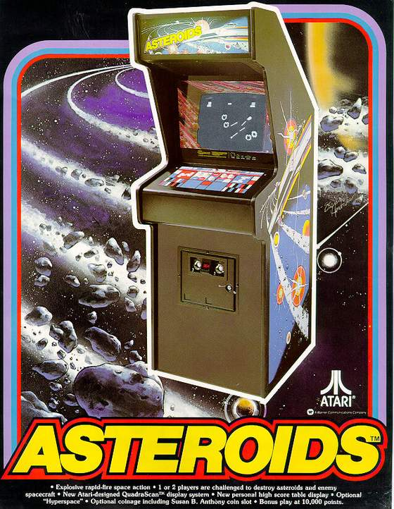 Asteroids Flyer: 1 Front
