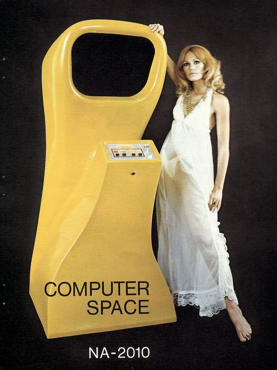 Computer Space flyer: 1 Front
