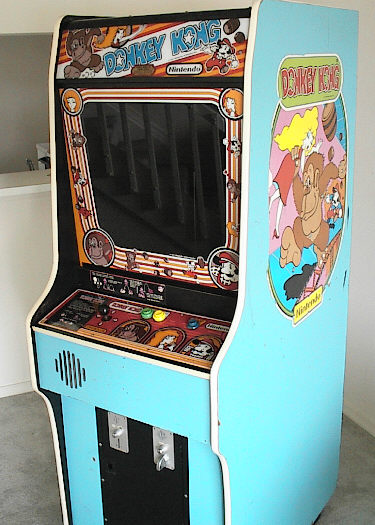 Donkey Kong cabinet photo