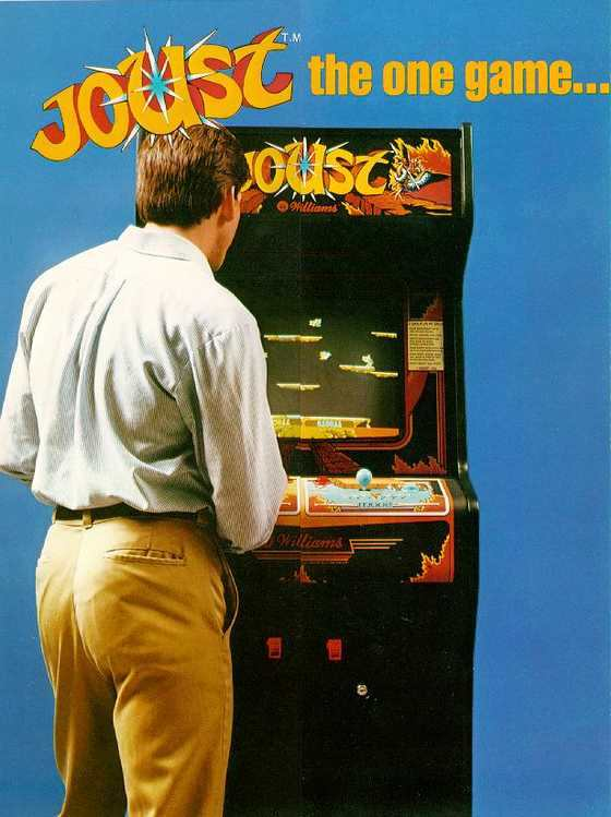Joust - It's cooperation and competition for dual player thrills and dual player earnings!  Ad flyer.