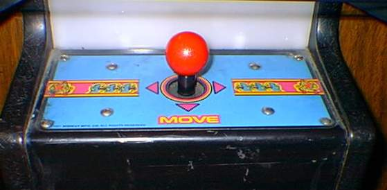 Ms. Pac-Man cocktail control close-up