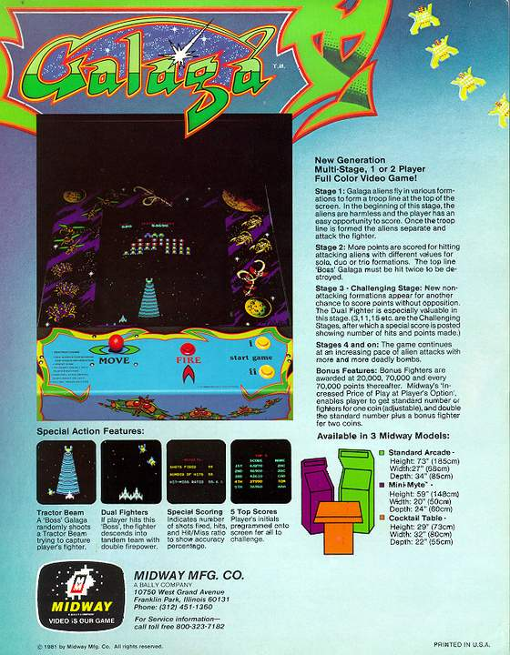 Galaga Flyer: 2 Back