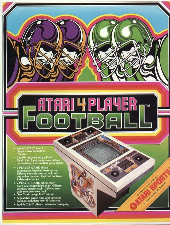 4 Player Football Flyer: 1 Front