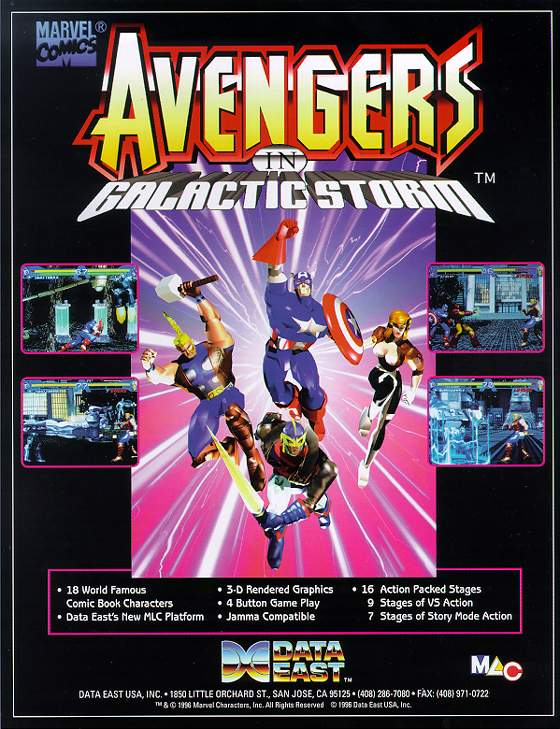 Avengers in Galactic Storm Flyer: 1 Front