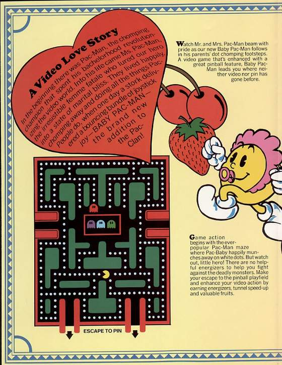 Baby Pac-man flyer: 2 Middle left