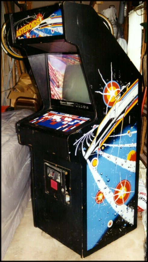 Front/side view of Asteroids cabinet.