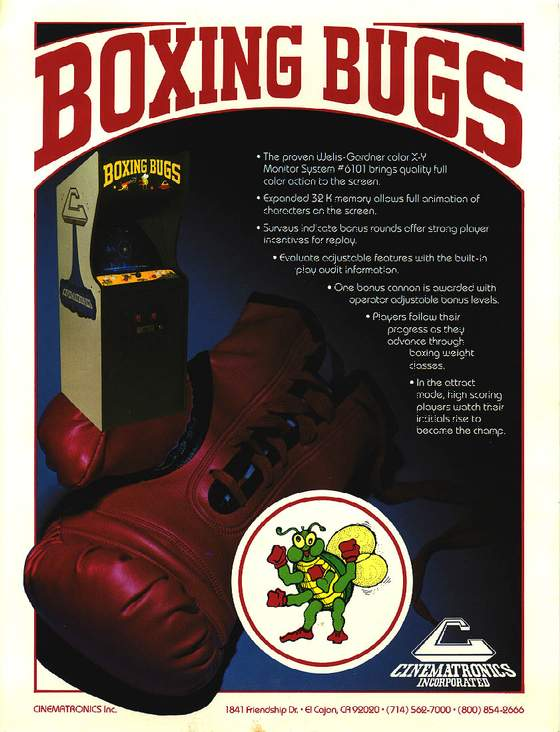 Boxing Bugs Flyer: 1 Front