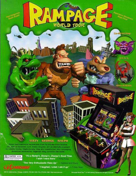 Rampage World Tour Flyer: 1 Front