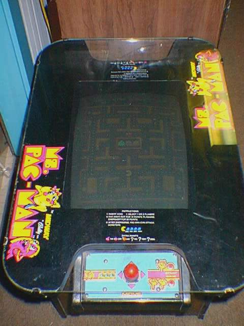 Ms. Pac-Man cocktail tabletop photo