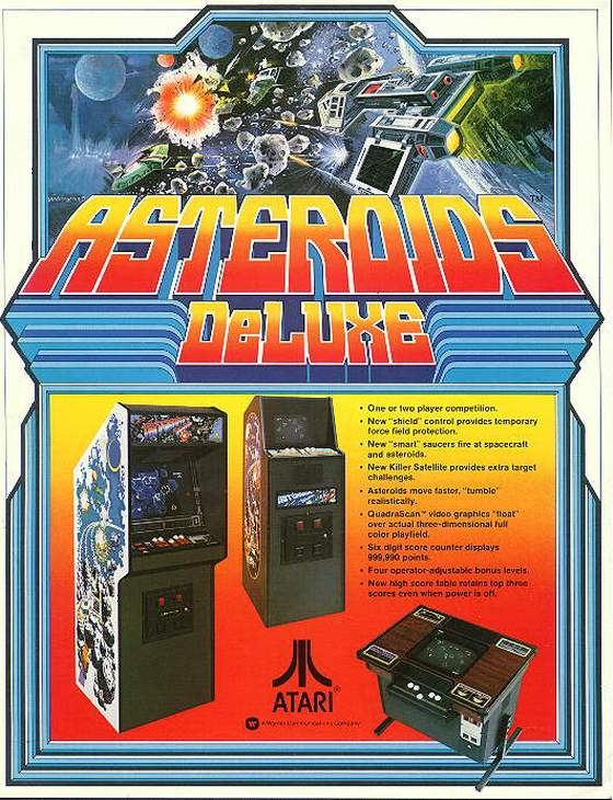 Asteroids Deluxe Flyer: 1 Front