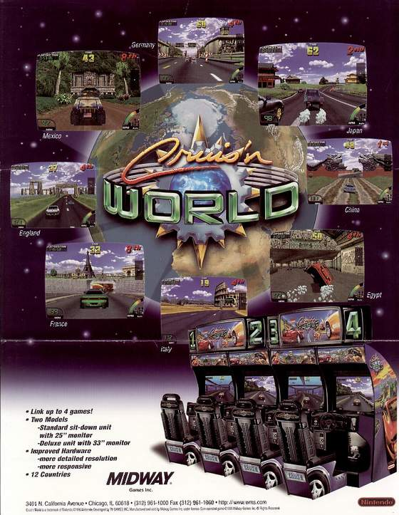Cruis'n World flyer: 1 Front