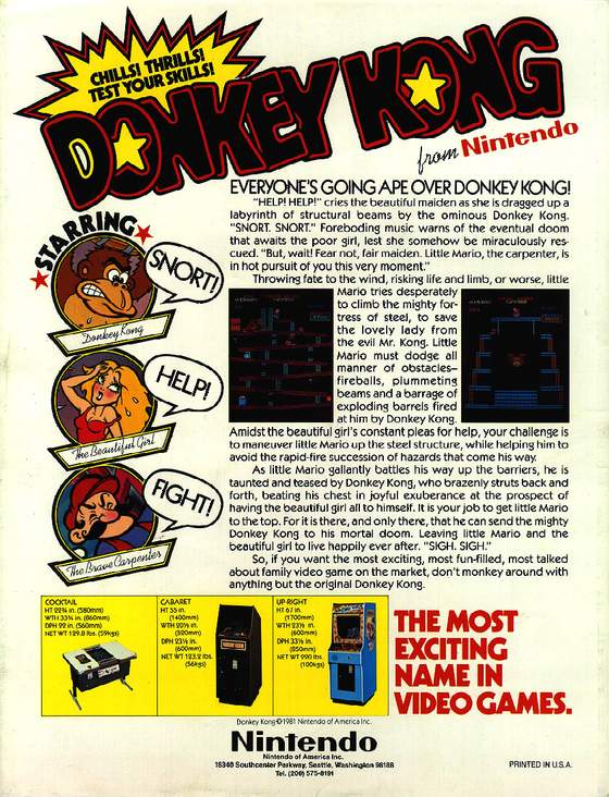 Donkey Kong flyer: 2 Back