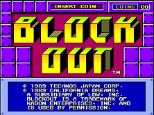 Block Out title screen