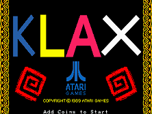 Klax title screen