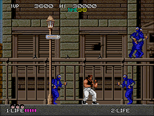 Bad Dudes Vs. Dragon Ninja gameplay screen shot