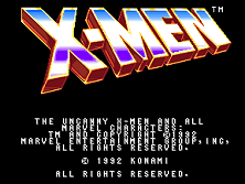 'X-Men' title screen