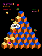 one night i was sitting at my desk playing with what i had so far which was qbert hopping around the pyramid avoiding balls it was fun but it wasnt a
