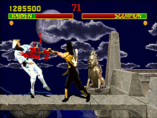 Mortal Kombat gameplay screen shot