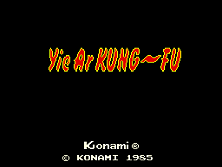 Yie Ar Kung Fu title screen
