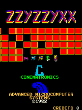 'Zzyzzyxx' title screen