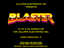 'Blaster' title screen