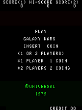 'Galaxy Wars' title screen