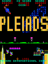 Pleiades title screen