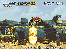 Metal Slug gameplay screen shot