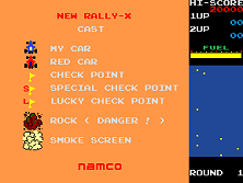 New Rally-X title screen