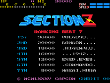 Section Z title screen