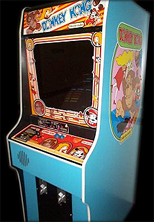 'Donkey Kong' cabinet photo