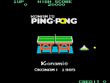 Ping Pong title screen