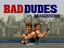 Bad Dudes Vs. Dragon Ninja title screen