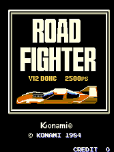 Road Fighter title screen