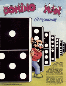 Domino Man promotional flyer