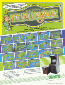 Mini Golf promotional flyer