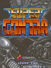 Super Contra title screen