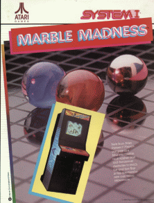 Marble Madness promotional flyer
