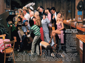 'Astro Blaster' promotional flyer