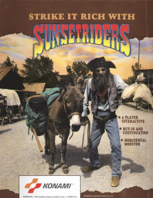Sunset Riders promotional flyer