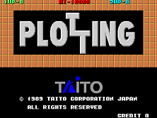 Plotting title screen