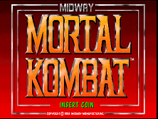 Mortal Kombat title screen