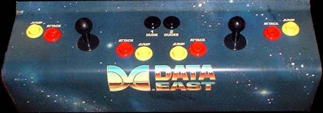 Bad Dudes Vs. Dragon Ninja control panel